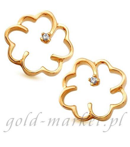 Kolczyki z żółtego złota z DIAMENTAMI (CEOR671GG)