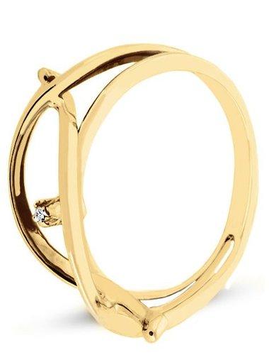 Pierścionek z żółtego złota z DIAMENTEM (CEAN707GG)