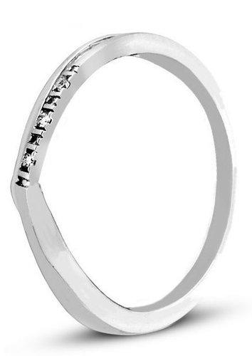 Pierścionek z białego złota z DIAMENTAMI (CEAN201WG)