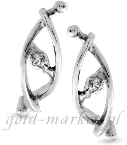 Kolczyki z białego złota z DIAMENTAMI (CEOR707WG)