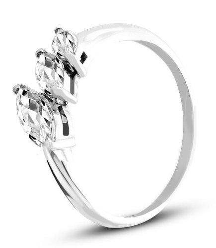 Pierścionek z białego złota (AGP49W)