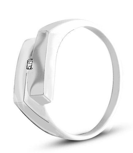 Pierścionek z białego złota (AGP42W)