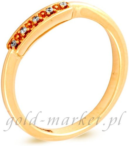 Pierścionek z żółtego złota z DIAMENTAMI (CEAN002GG)