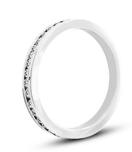 Pierścionek z białego złota (AGP55W)