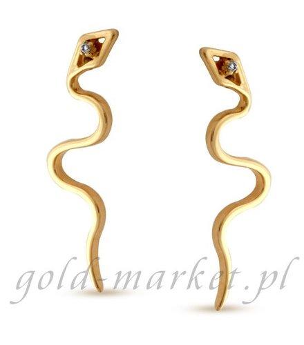 Kolczyki z żółtego złota z DIAMENTAMI (CEOR109GG)