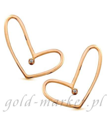 Kolczyki z żółtego złota z DIAMENTAMI (CEOR686GG)