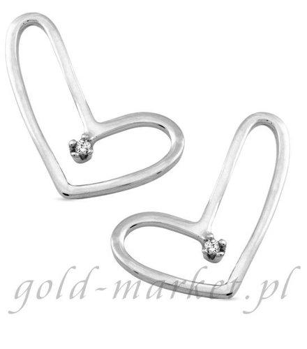 Kolczyki z białego złota z DIAMENTAMI (CEOR685WG)