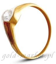 Pierścionek z żółtego złota (AGP13G)