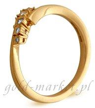 Pierścionek z żółtego złota z DIAMENTAMI (CEAN204GG)