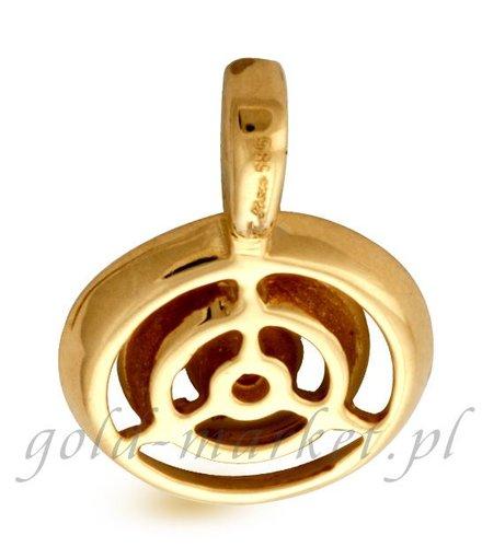 Zawieszka z żółtego złota z DIAMENTEM (CEPND550GG)