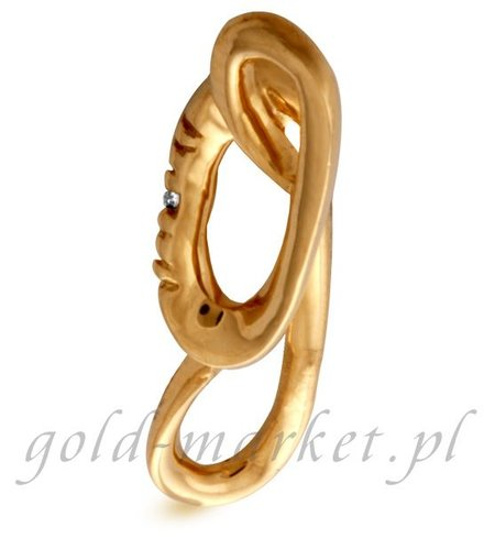 Zawieszka z żółtego złota z DIAMENTEM (CEPND709GG)