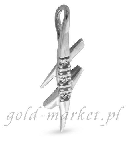Zawieszka z białego złota z DIAMENTAMI (CEPND691WG)