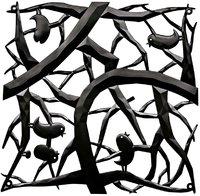 Panel dekoracyjny [pi:p] czarny 4 szt. KZ-2042526
