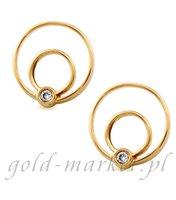 Kolczyki z żółtego złota z DIAMENTAMI (CEOR010GG)
