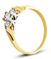 Pierścionek z żółtego złota (AGP20G)