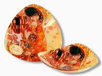 Talerz miseczka - Pocałunek - Klimt - 17x17cm
