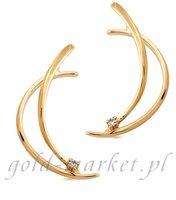 Kolczyki z żółtego złota z DIAMENTAMI (CEOR684GG)