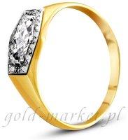 Pierścionek z żółtego złota (AGP14G)