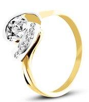 Pierścionek z żółtego złota (AGP24G)
