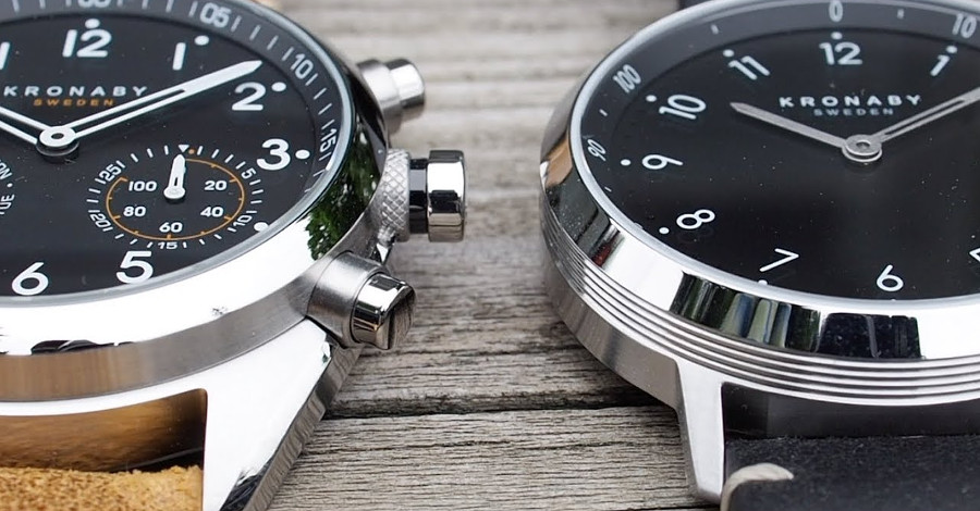 Dwa zegarki krobany