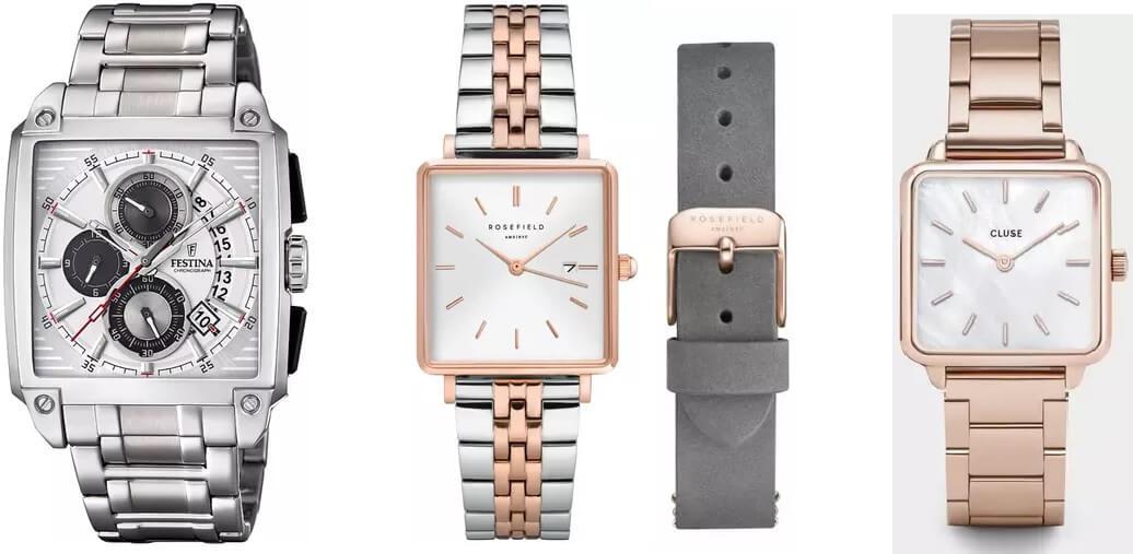 zegarki z kwadratową kopertą