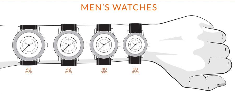 Męskie zegarki rozmiary