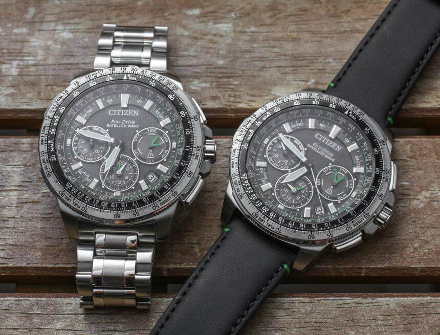 dwa zegarki citizen