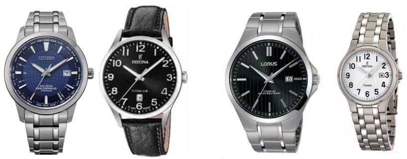 Kilka tytnowych zegarków