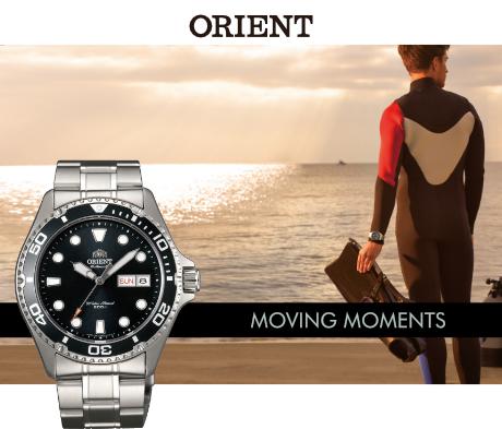 Japońskie zegarki Orinet